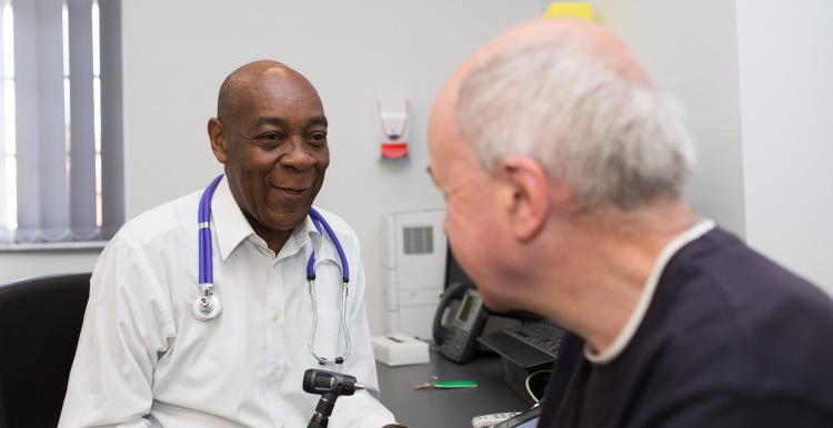 GP with patient