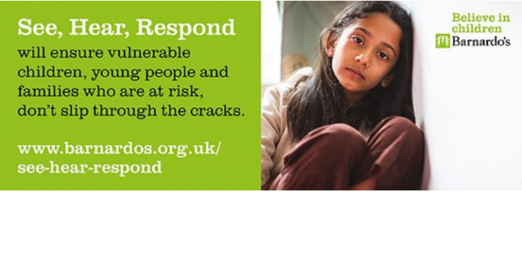 Text reads 'See, Hear, Respond' will ensure vulnerable children, young people and families who are at risk, don't slip through the cracks.
