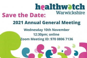 text reading Annual General Meeting Wednesday 10th November at 12:30