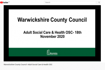 Warwickshire County Council Adult Social Care and Health OSC - 18th November 2020