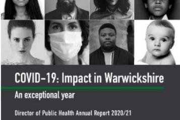 A photo of the cover of the report showing images of different people