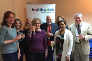 HWW Staff Team with Heathwatch Warwickshire banner