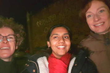 Vina and colleagues outside Leamington Night Shelter
