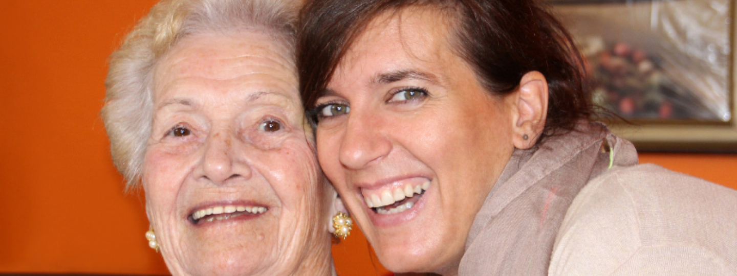A photo of a younger and older lady together