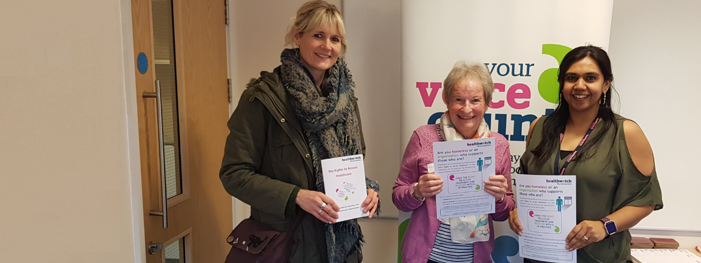 ladies at a Healthwatch stall