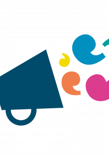 Standing Conference logo - picture  of a megaphone with speech bubble