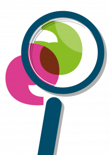 logo of magnifying glass
